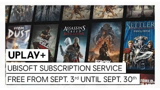 UPLAY+ FOR FREE: DISCOVER UBISOFT SUBSCRIPTION SERVICE ON 3RD SEPTEMBER 2019
