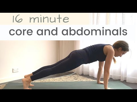 Strengthen your Core + Abdominals with Pilates in 16 Minutes