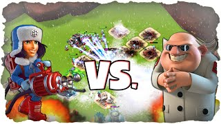 MAX Kryonierin vs. Dr. T! | BOOM BEACH | Cryoneer Level 8 vs. Dr. T! (Deutsch / German)