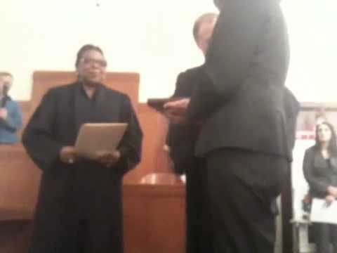 Chief Justice Carolyn Wright addresses Rockwall County