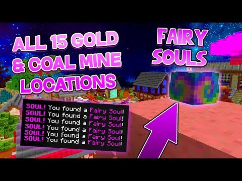 15 FAIRY Soul Locations In The COAL & GOLD Mines! (Hypixel Skyblock)