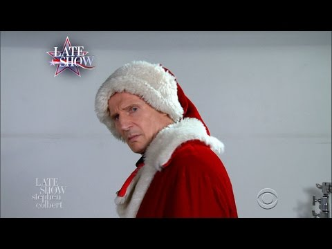 Liam Neeson Auditions For Mall Santa Claus - YouTube