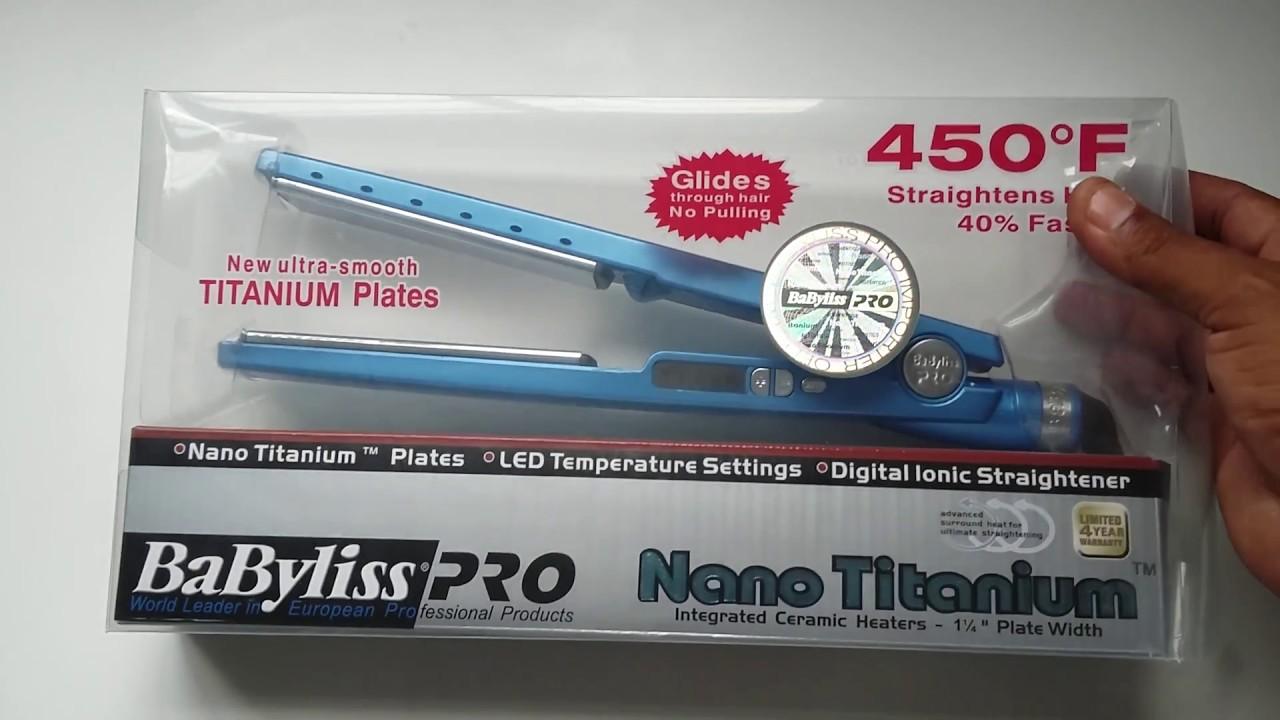 83edaae30 Prancha Nano Titanium,1 1/4,babyliss Pro,110v, 450 Graus,Para salão de  beleza!!!
