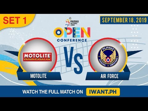 SET 1 | Motolite Vs. Air Force | September 18, 2019 (Watch The Full Game On IWant.ph)