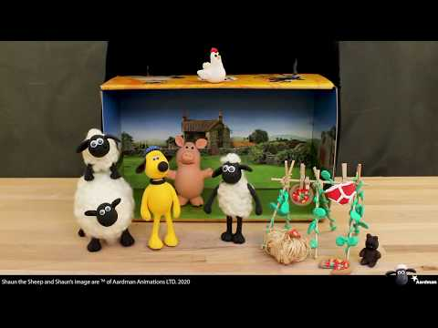 Unboxing Shaun the Sheep Mossy Bottom farm box for modelling your own set