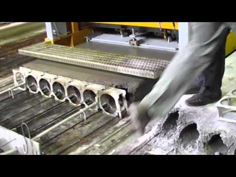 Формовка плиты многопустотной  Встал на плиту, через минуту после формовки.  Nordimpianti