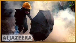 Hong Kong protests: Police use tear gas on demonstrators