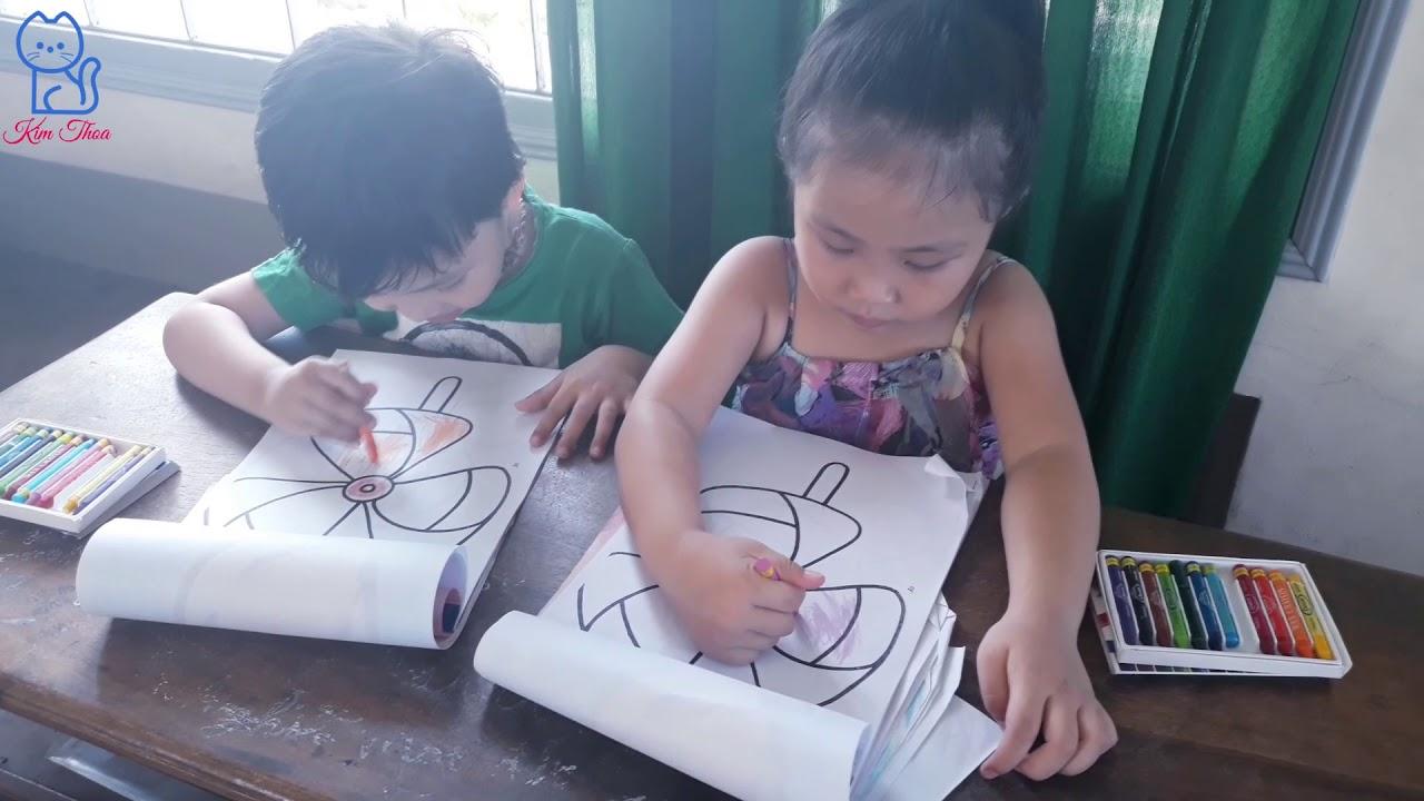 Giờ học vẽ các bé lớp chồi B | Trường mầm non Tinh Hoa Phú Yên