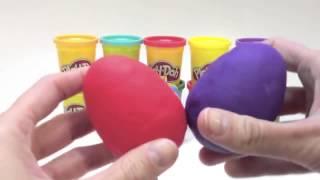 Play Doh Surprise Eggs Christmas Toys Chocolate Marvel Heroes Spongebob Dora