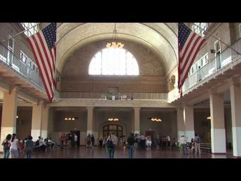 Tour of the Ellis Island Immigration Museum, Lower New York Harbour, USA
