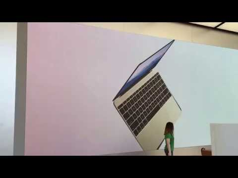 Huge display at the new Apple Store in San Francisco