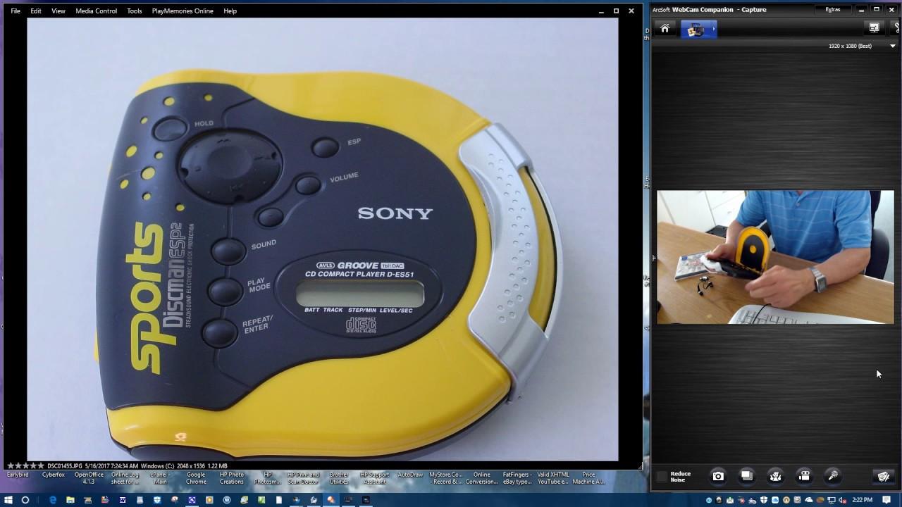 sony discman esp2 steadysound electronic cd player youtube rh youtube com Sony Disc Man of the 90 S Sony Walkman