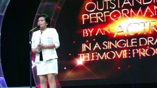 Best Actress Nora Aunor at the 6th Golden Screen Awards
