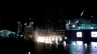 Burj Khalifa dancing fountains.  Elissa - Aa Bali Habibi,  March 1st - 2016