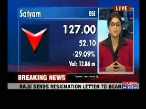 Breaking NewsRamalinga Raju resigns as Satyam Chairman admits – Ramalinga Raju Resignation Letter