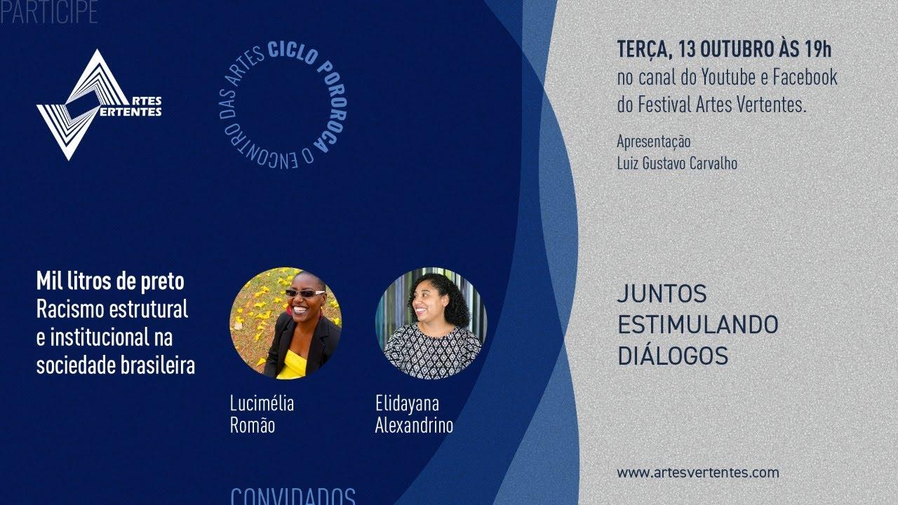 Ciclo Pororoca - Mil litros de preto: Racismo estrutural e institucional na sociedade brasileira