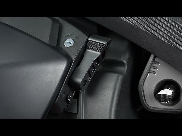 Black Can-Am Ryker Lockable handbrake lever 219401021