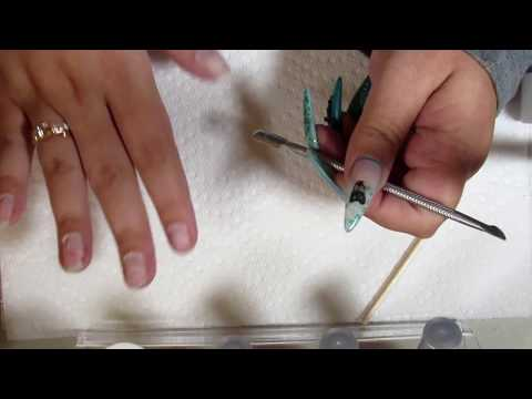 Fake nail manicure preparation, Acrylic, Gel, Resin...