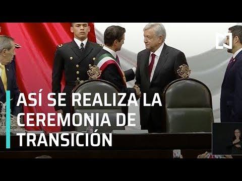 Inicia ceremonia de transición de poderes entre Peña Nieto y AMLO - Transición 2018