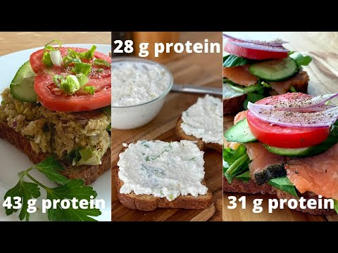 Quick High Protein Low Calorie Open Faced Sandwiches 3 Ways
