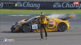 Thailand Super Series (Super Car GTM Plus/GTM) 2017. Race 2 Chang International Circuit 2. Crash