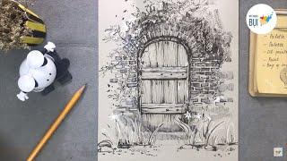Hướng dẫn vẽ Ký họa góc cảnh Cực Chi Tiết và Đơn Giản