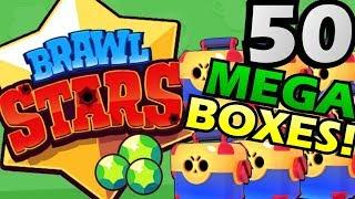 50 MEGA BOXES OPENING! NEW BRAWLERS OPENED! 50個超級寶箱!開到新角色啦!(中文字幕) 【BrawlStars 荒野亂鬥】