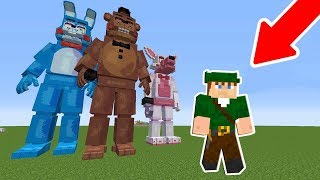 OS ANIMATRONICS FICARAM GIGANTES E NOS ATACARAM! - MINECRAFT FIVE NIGHTS AT FREDDY