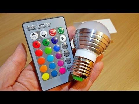 RGB IR Remote Control LED Bulb / 16 color.