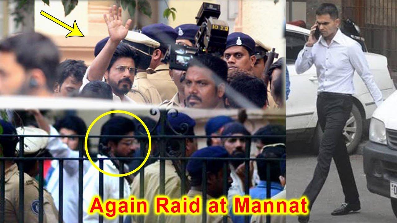 Download Ncb Again Raid At Shahrukh Khan House Mannat with Team After Srk Meet Son in Arthur Road Jail