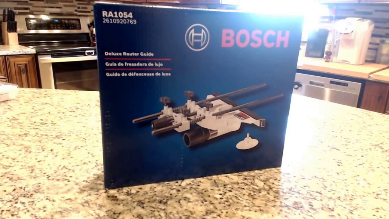 Bosch RA1054 Deluxe Router Edge Guide Unboxing - YouTube