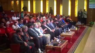 الفنان حسين فهمى سفير الاولمبياد الخاص فى زيارة الى قناة السويس الجديدة