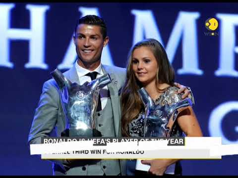 Cristiano Ronaldo is named as UEFA Men's Player of the Year 2017