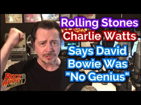 """Rolling Stones Charlie Watts: David Bowie wasn't a """"musical genius"""""""