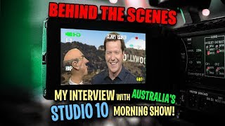 BEHIND THE SCENES! My interview with Australia