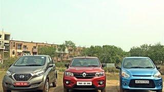 Datsun redi-GO vs Renault Kwid vs Maruti Alto 800