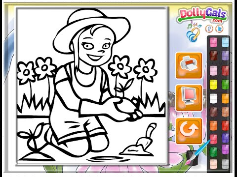 Garden Coloring Pages For Kids - Garden Coloring Pages - YouTube