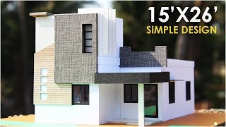 15x26 simple residential building 1bhk north side facing