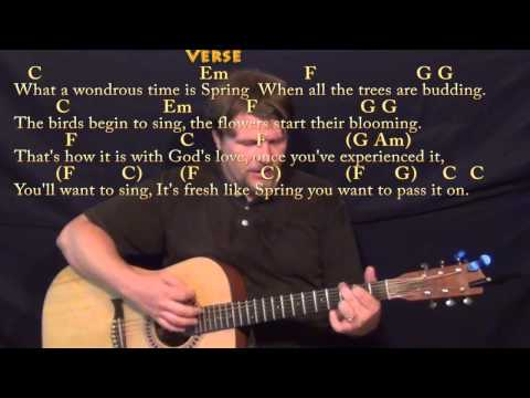Pass It On (It Only Takes a Spark) Strum Guitar Cover Lesson with Chords/Lyrics