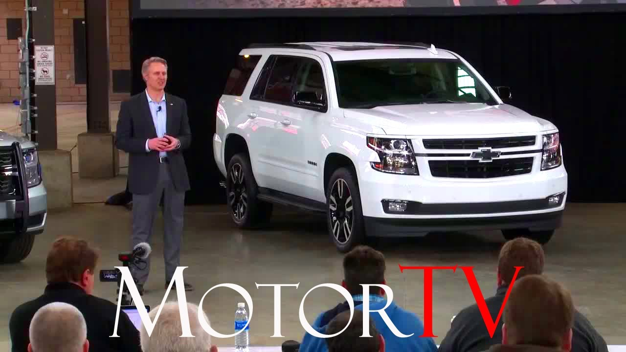 Suv New 2018 Chevrolet Tahoe And Suburban Rst Special Edition L Reveal