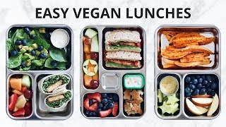 Today we are making some easy vegan lunches! Recipes are below :) a...