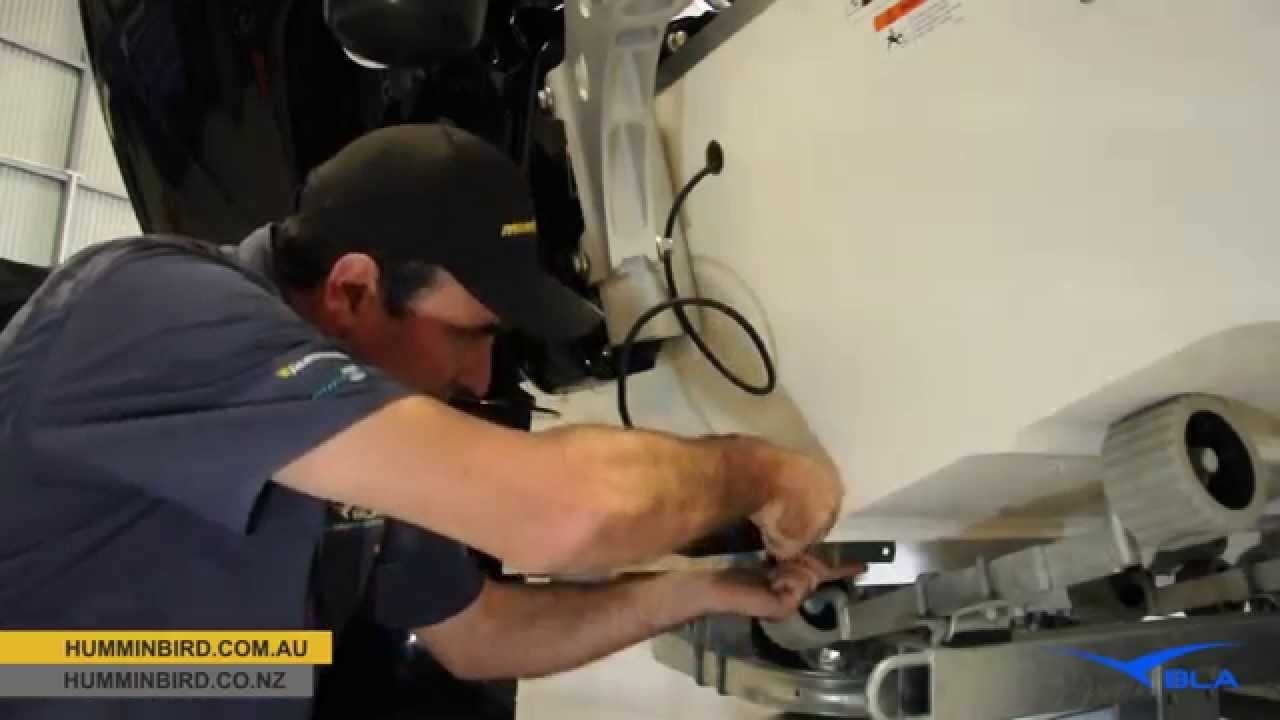 bla - humminbird - hdsi transom transducer installation - youtube, Fish Finder