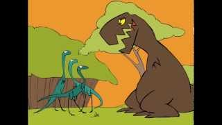 T Rex cartoon - dinosaur animation
