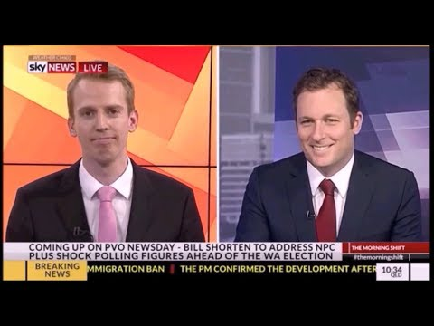 Tom Connell stiches up Peter van Onselen on Sky News
