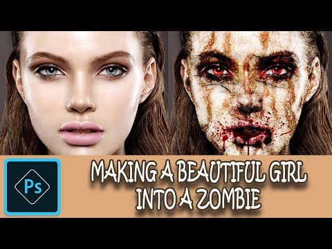 🆕🔥Photoshop Tutorial Video 2019: Horror Photo Editor Using Photoshop| Zombie Horror Effect