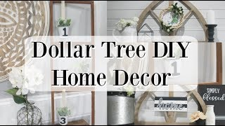 DOLLAR TREE DIY HOME DECOR | FARMHOUSE DECOR 2019