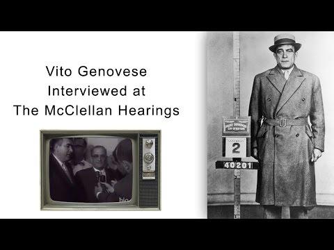 Vito Genovese Interviewed at The McClellan Hearings
