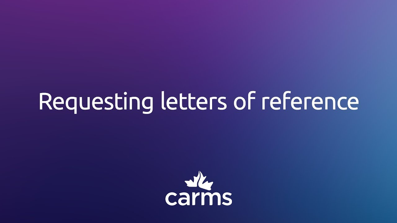 requesting letters of reference