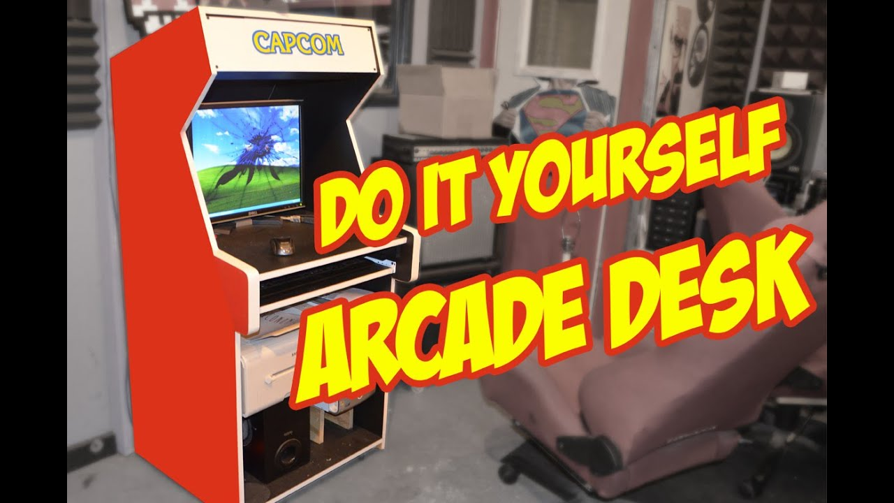 How to diy desk arcade style youtube how to diy desk arcade style solutioingenieria Gallery
