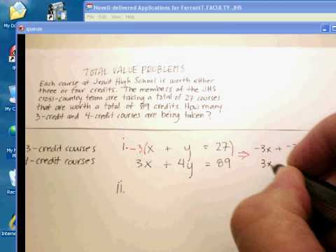 System of Equations: Total Value Problems (1).avi
